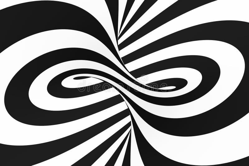 Traforo a spirale in bianco e nero Illusione ottica ipnotica torta a strisce sottragga la priorità bassa royalty illustrazione gratis