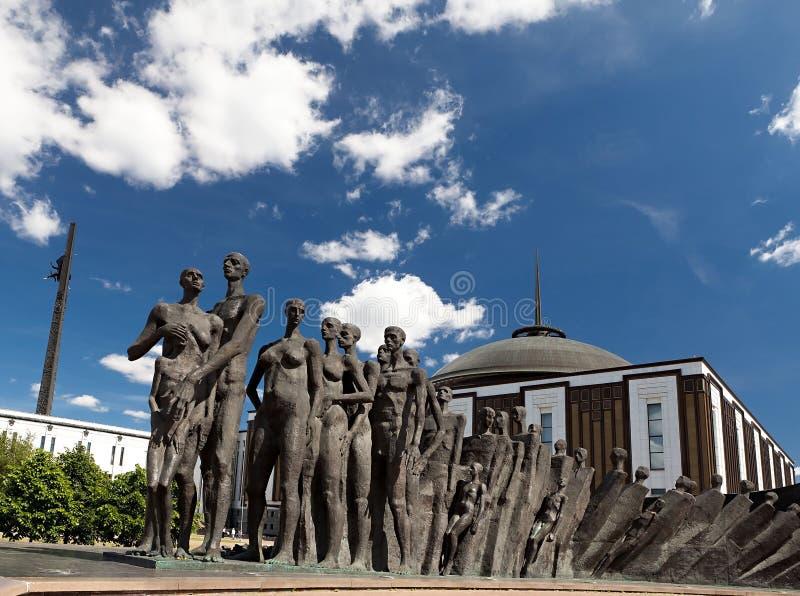 Tragédia do monumento das nações em Moscovo foto de stock