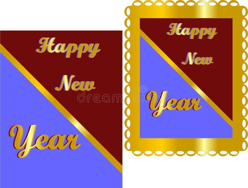 Traga o ano novo dentro, com celebrações. ilustração stock