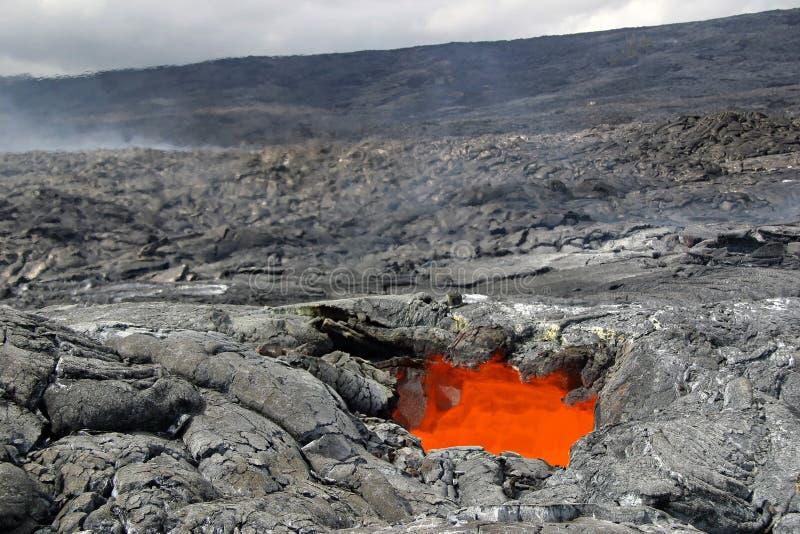 Tragaluz de la lava imagen de archivo