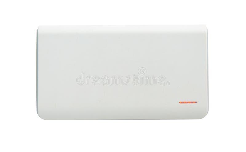 Tragbare Energiebank für die Aufladungstragbaren geräte lokalisiert auf weißem Hintergrund lizenzfreie stockfotografie