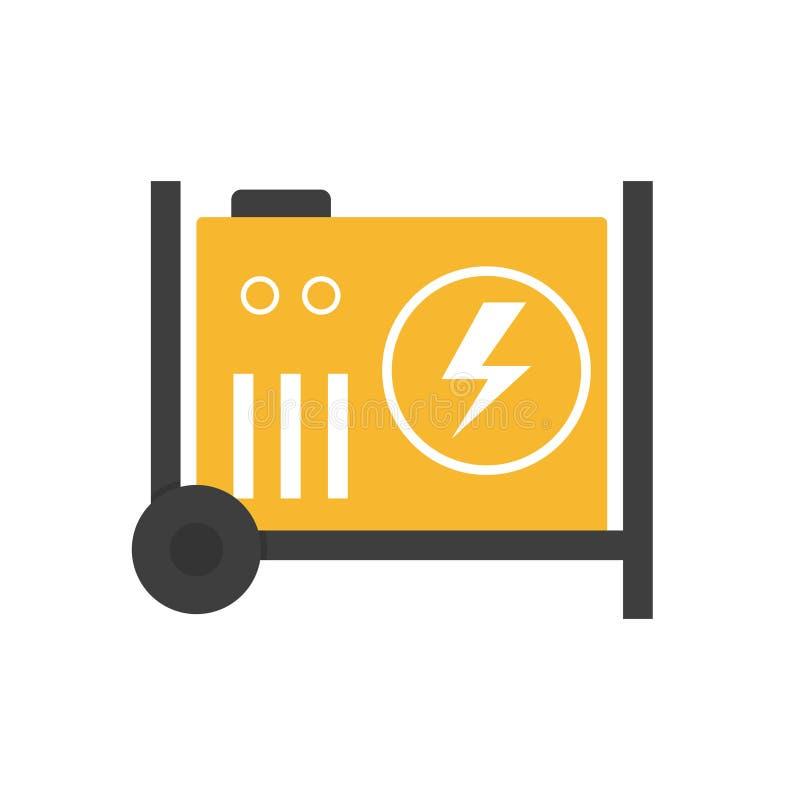 Tragbarer Stromgenerator vektor abbildung. Illustration von motor ...