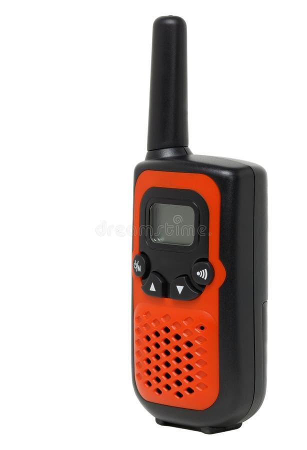 Tragbarer UHF-Radio Transceiver lokalisiert auf weißem Hintergrund stockbilder