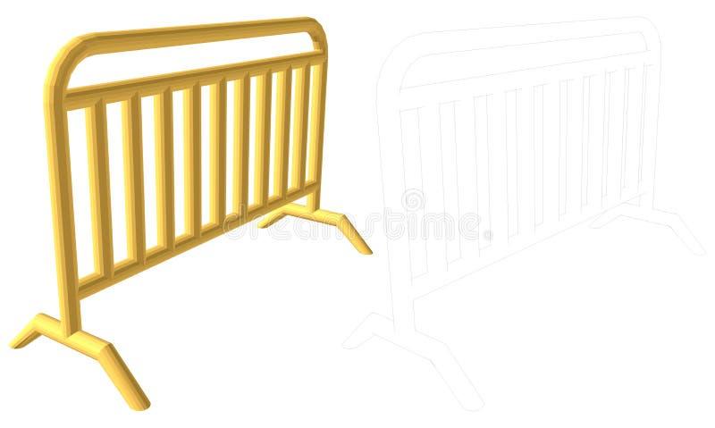 Tragbarer Zaun vektor abbildung
