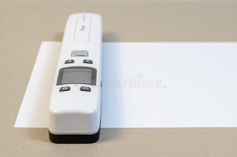 Tragbares Scan-Papier stockfoto
