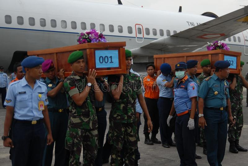 TRAGEDI AV AIRASIA QZ8501 royaltyfri foto