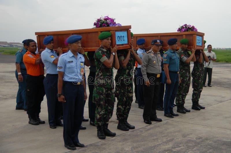 TRAGEDI AV AIRASIA QZ8501 royaltyfria bilder