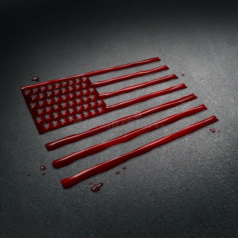 Tragedia de Estados Unidos stock de ilustración