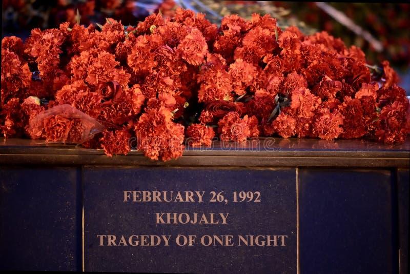 Tragedia de Khojaly de una noche fotografía de archivo libre de regalías