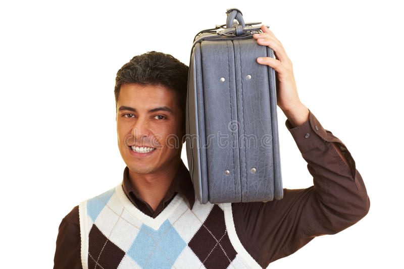 Tragen eines Koffers lizenzfreies stockbild