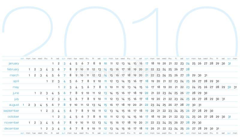 Tragen Sie für Jahr 2010 ein stock abbildung