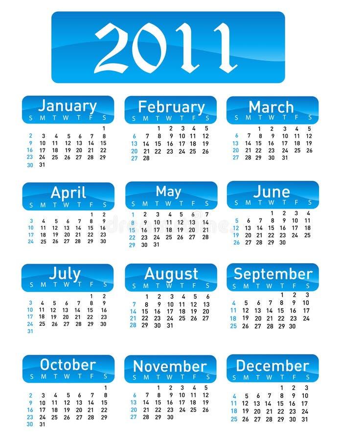 Tragen Sie für Jahr 2011 ein lizenzfreie abbildung