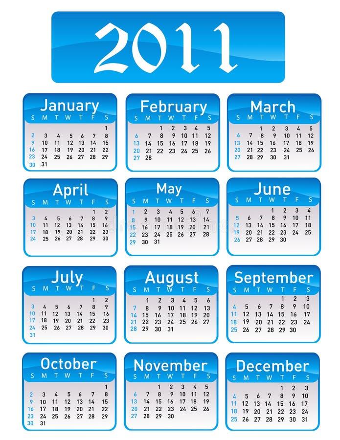 Tragen Sie für Jahr 2011 ein vektor abbildung
