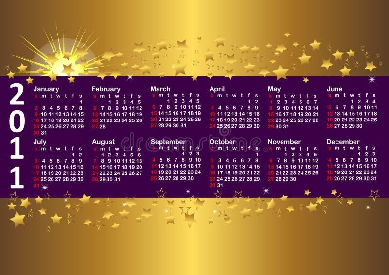 Tragen Sie für Vektor 10eps des Jahres 2011. ein. lizenzfreie abbildung
