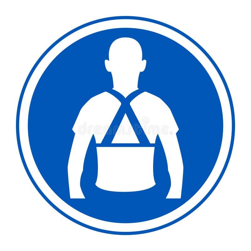 Tragen Sie hinteres Stützsymbol-Zeichen-Isolat auf weißem Hintergrund, Vektor-Illustration ENV 10 lizenzfreie abbildung