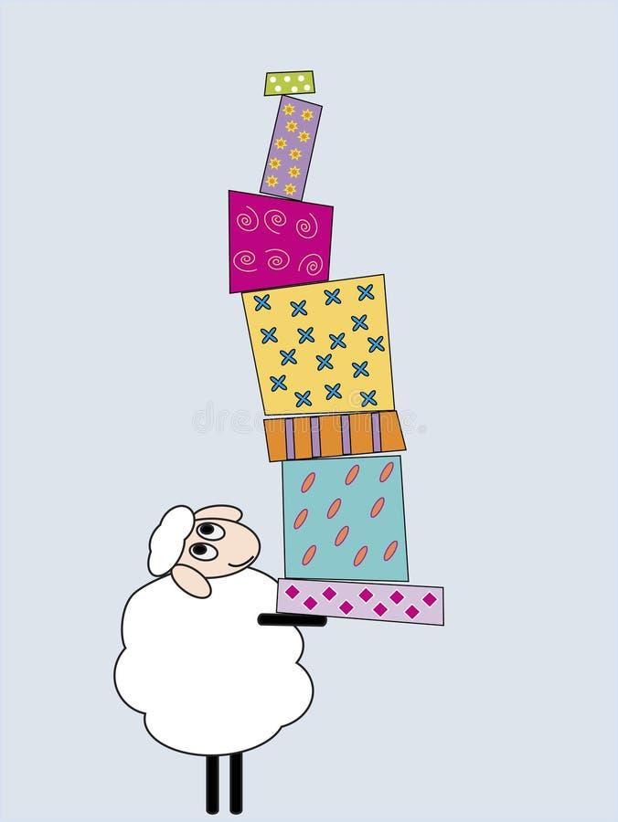 Tragende Geschenke vektor abbildung