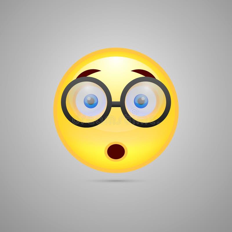 Tragende Gläser smiley Emoticon lizenzfreie stockfotos