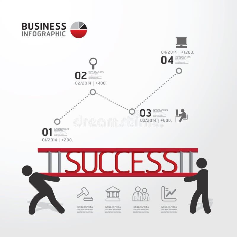 Tragende Leiter concept.vector Geschäft Infographic lizenzfreie abbildung