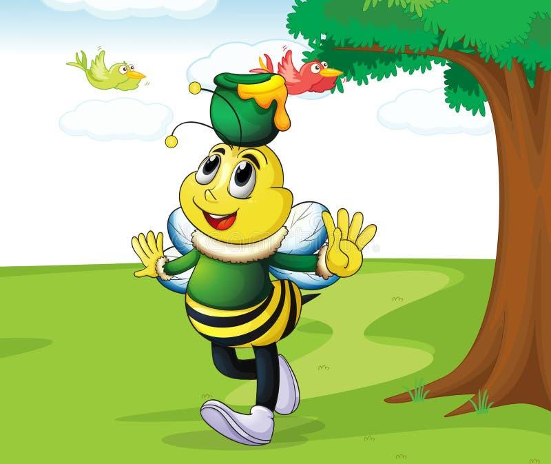 Download Tragender Honig Der Honigbiene Vektor Abbildung - Illustration von park, grün: 26352171