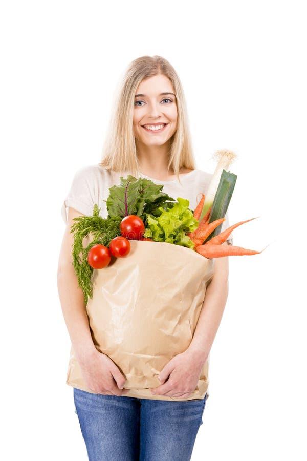 Tragendes Gemüse der Schönheit lizenzfreies stockbild