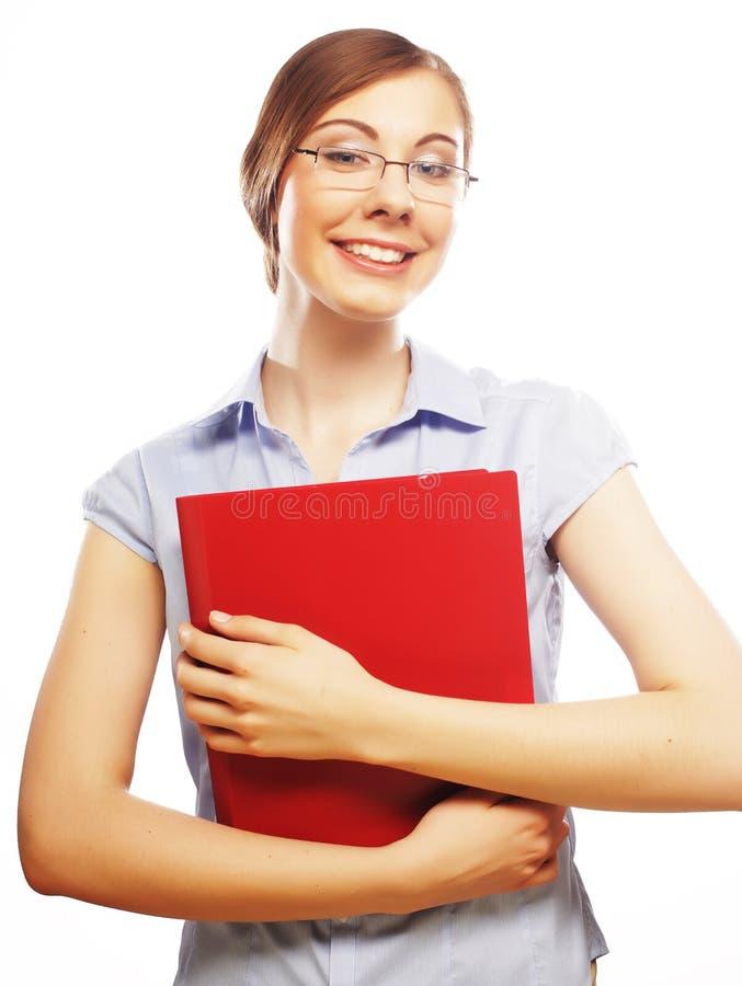 Tragendes Glaslächeln des Studenten stockbild