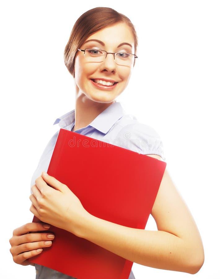 Tragendes Glaslächeln des Studenten lizenzfreie stockfotos