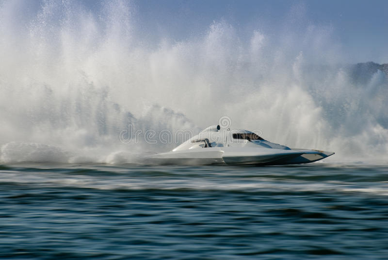 Tragflügelboot-Regatta stockfoto