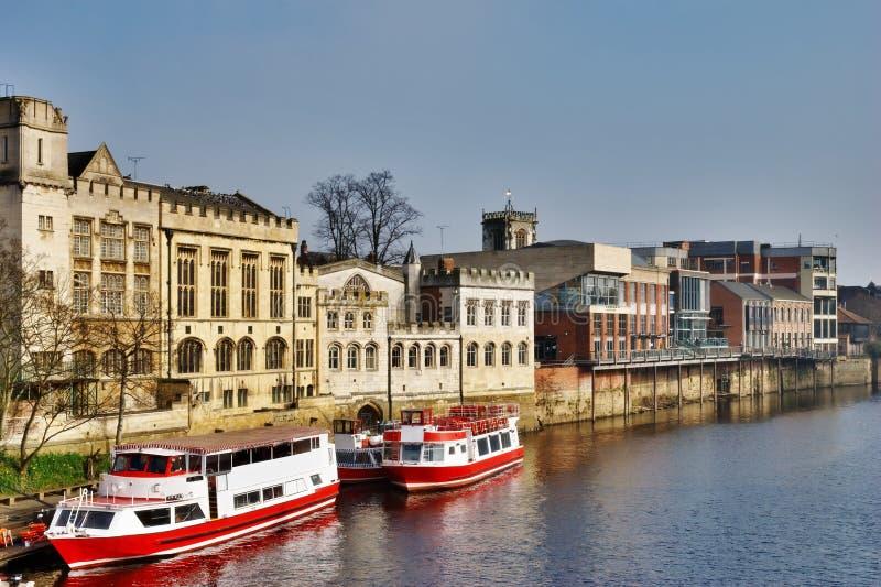 Traghetti sul fiume Ouse, York fotografia stock
