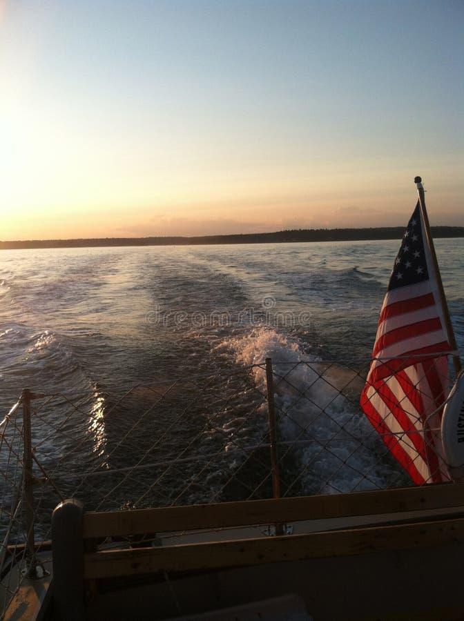 Traghetto all'isola #2 di Bustins fotografia stock libera da diritti