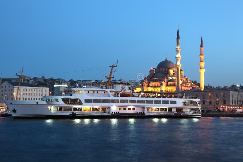 Traghetto a Costantinopoli, Turchia fotografie stock