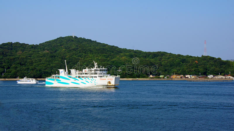 Traghetto di Isewan da Toba a Irago nel Giappone fotografia stock libera da diritti