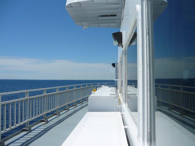 Traghetto di Maun di 'chi' di 'chi' da Tobermorey a Manitoulin Canada fotografia stock libera da diritti