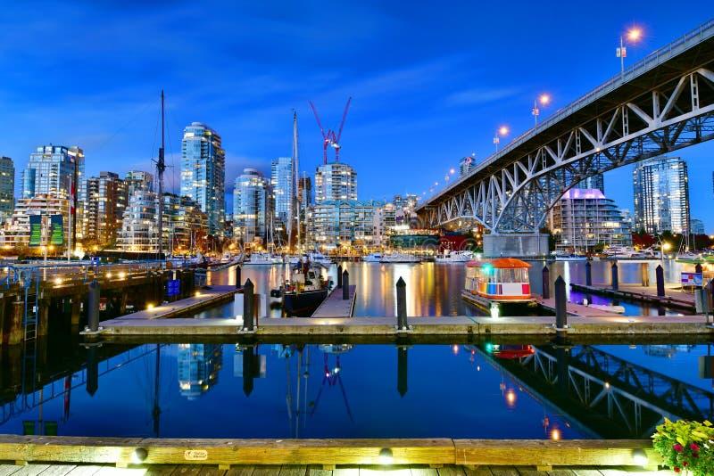 Traghetto messo in bacino in Granville, Vancouver, Canada fotografie stock libere da diritti