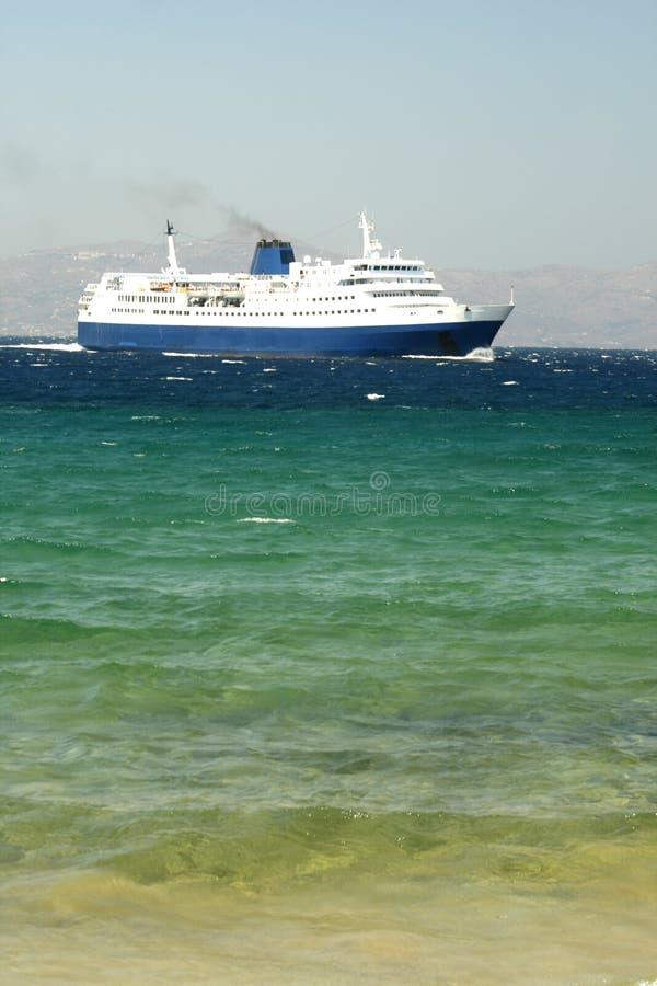 Traghetto - Mykonos fotografie stock libere da diritti