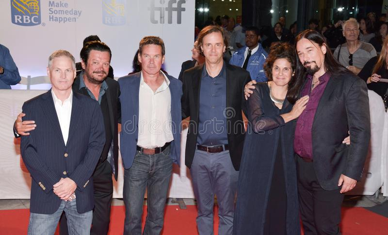 The Tragically Hip, Directors and Producers at premiere of documentary`Long Time Running` at toronto international film festival. The Tragically Hip and stock image