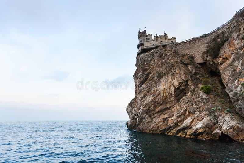 Trague el castillo de la jerarquía en el cabo de Ay Todor por la tarde foto de archivo libre de regalías
