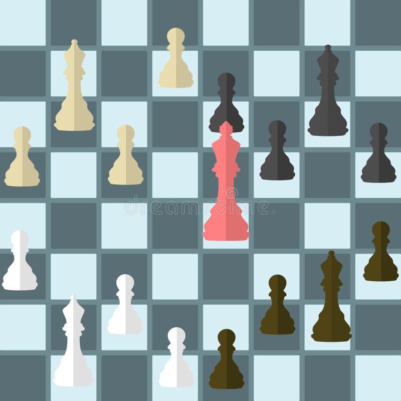 Trahison d'échecs illustration libre de droits