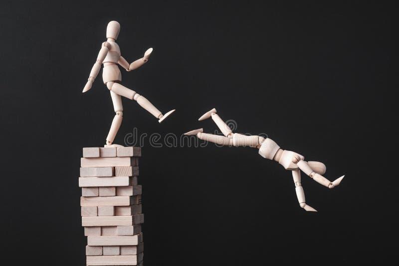 Traição de construção da competição da liderança da carreira imagens de stock