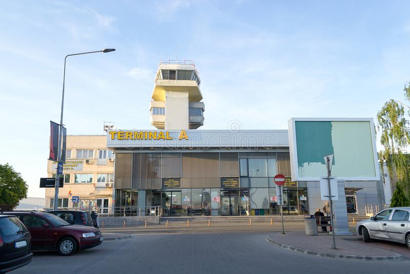 Traian Vuia International Airport, Timisoara, Roumanie image stock