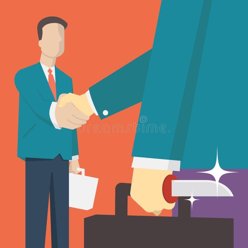 Traidor do negócio ilustração do vetor