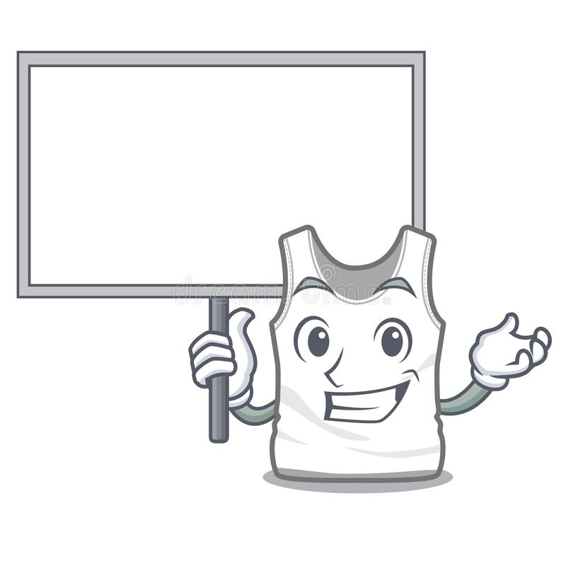 Traiga la camiseta del tablero en la forma de la mascota de a stock de ilustración
