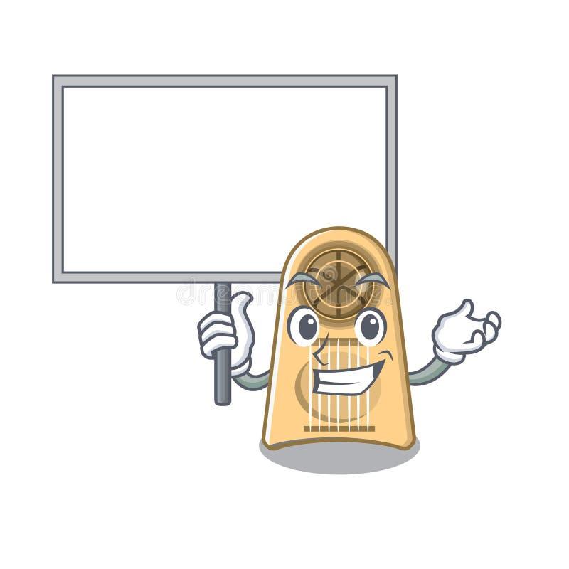 Traiga la cortadora del huevo del tablero aislada en la historieta ilustración del vector