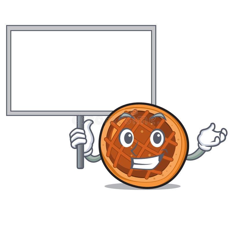 Traiga la historieta del carácter de la empanada del baket del tablero ilustración del vector