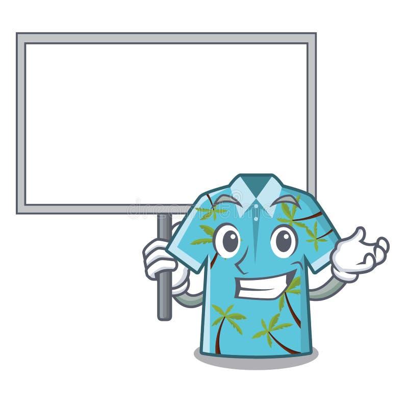 Traiga a tablero la camisa hawaiana en la forma de la mascota stock de ilustración