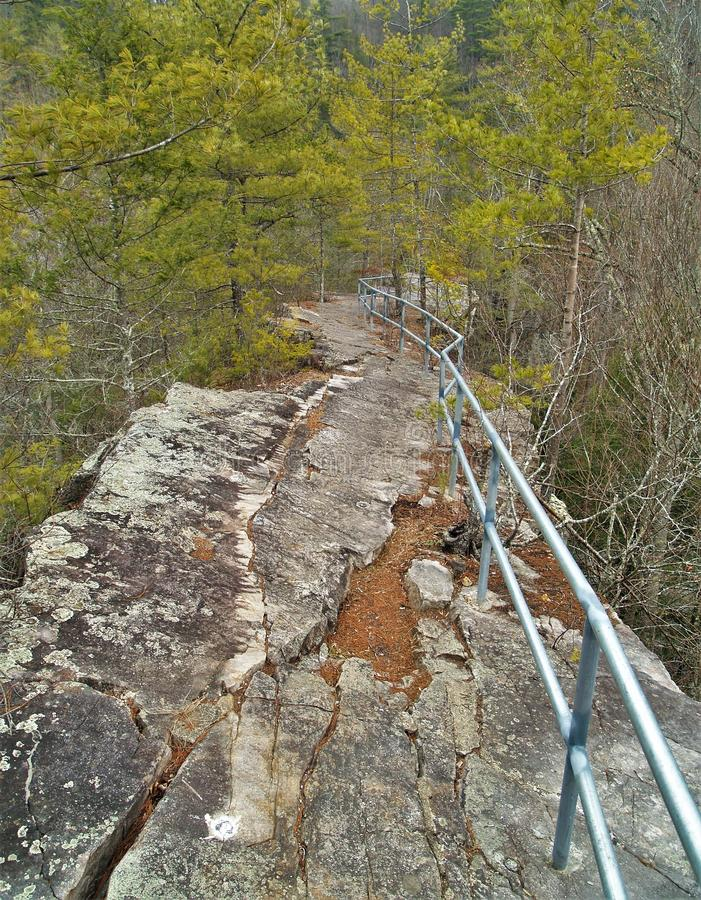 Trail Across The Top of Backbone Rock royalty free stock photos