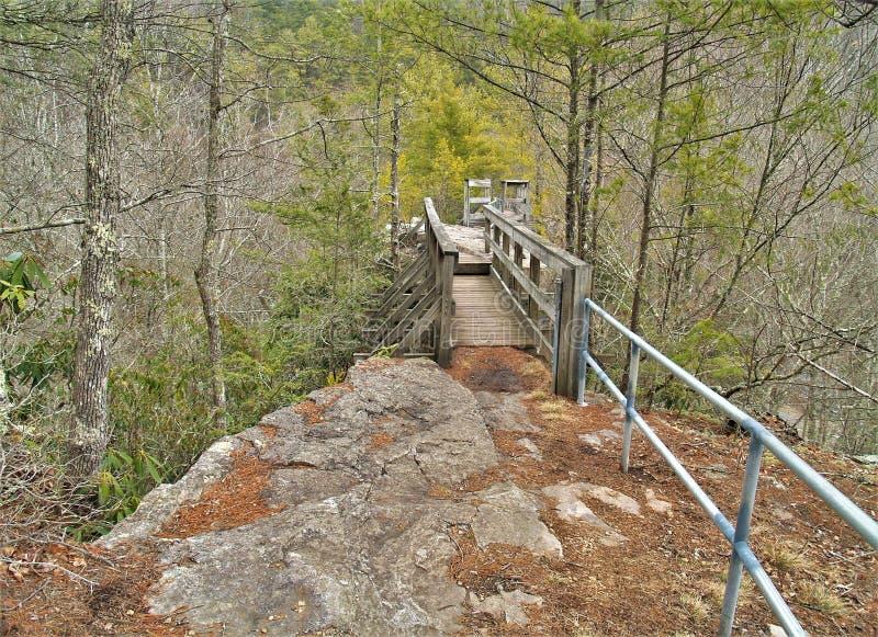 Trail Across The Top of Backbone Rock stock photos