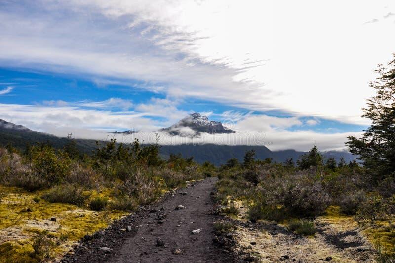 Trail around Lago Todos Los Santos, Chile royalty free stock images