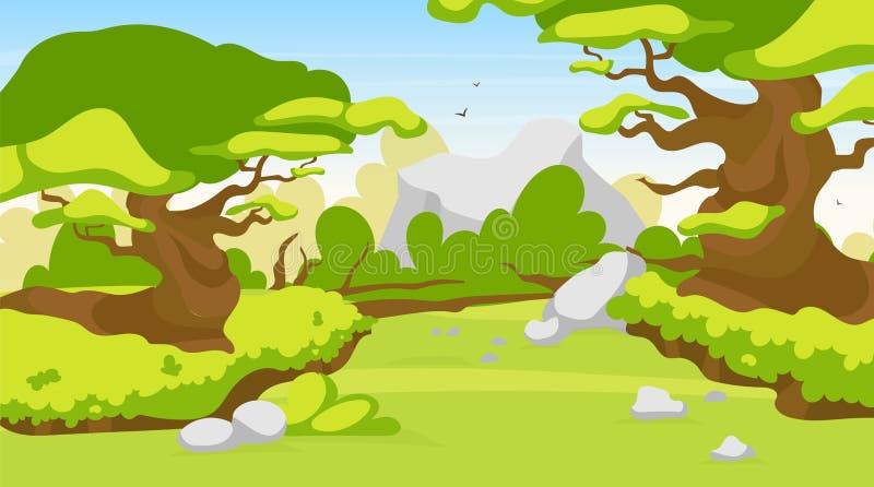 Path through Woods Clip Art