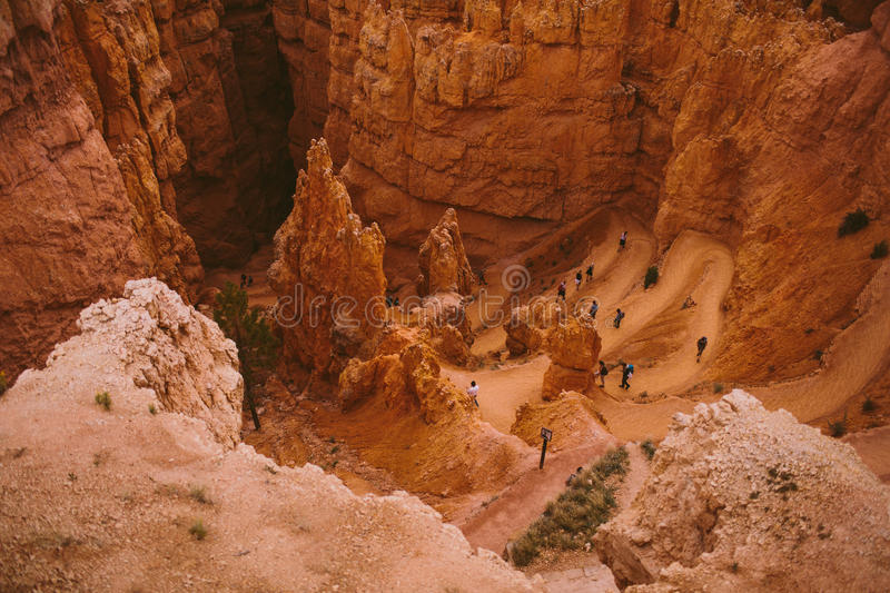 Trail at Bryce Canyon stock images