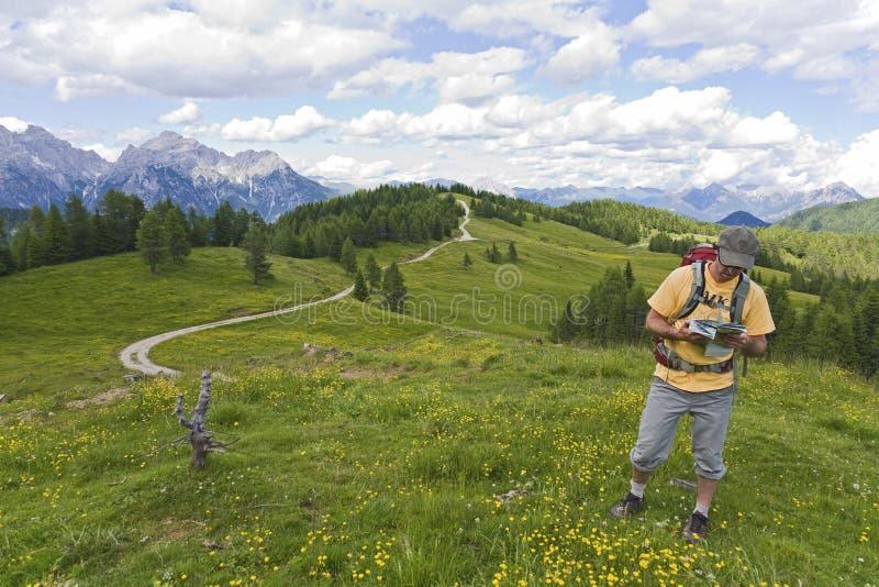 trail för översiktsavläsning arkivbild